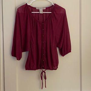 American Rag purple light buttoned blouse